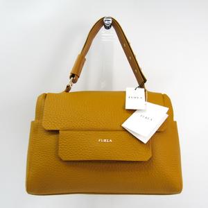 Furla Capriccio M Women's Leather Handbag Yellow