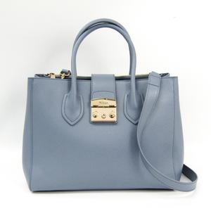 Furla Metropolis Tote M 908104 Women's Leather Tote Bag Blue