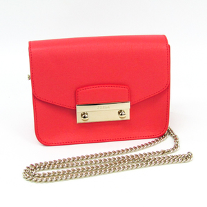 Furla Metropolis Julia Women's Leather Shoulder Bag Coral Pink