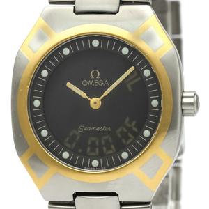 【OMEGA】オメガ シーマスター ポラリス アナログ デジタル K18 ゴールド ステンレススチール クォーツ メンズ 時計