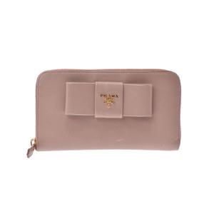 プラダ(Prada) Saffiano リボン 財布 ピンク