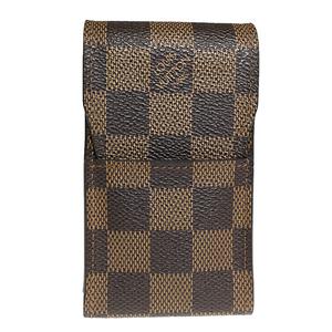 ルイ・ヴィトン(Louis Vuitton) ダミエ エテュイ・シガレット N63024 タバコケース エベヌ