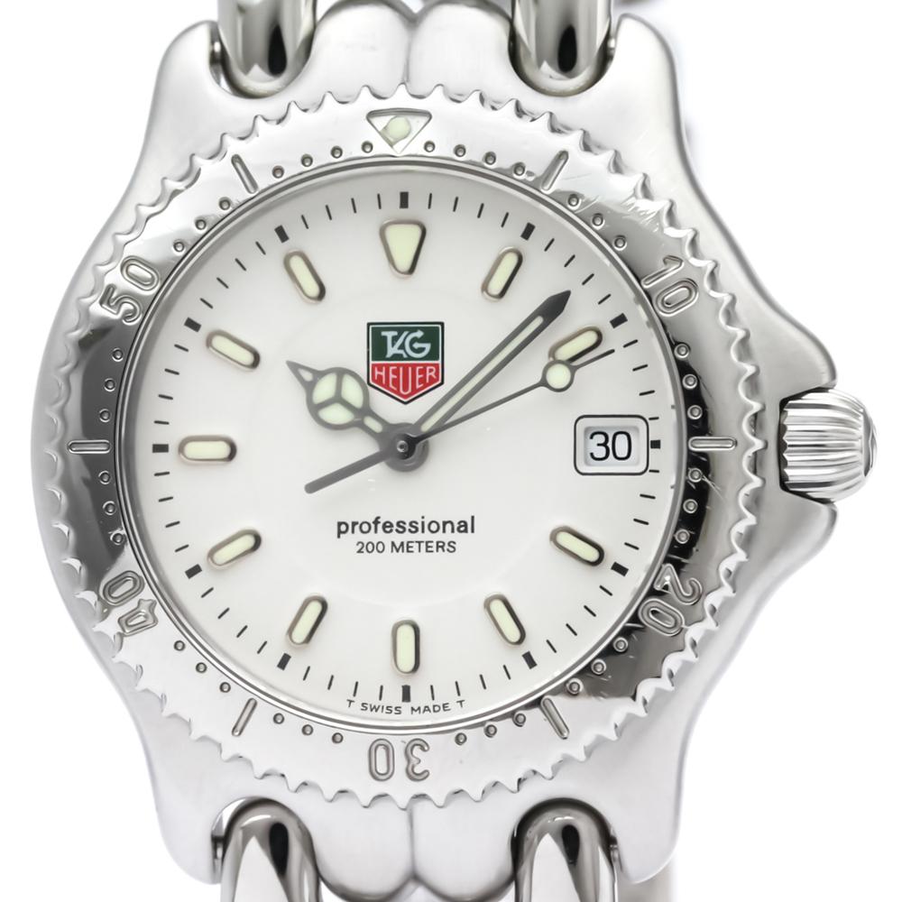 【TAG HEUER 】タグホイヤー セル プロフェッショナル 200M ステンレススチール クォーツ ボーイズ 時計 WG1212