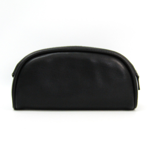 Salvatore Ferragamo 24 6022 Men's Leather Clutch Bag Black