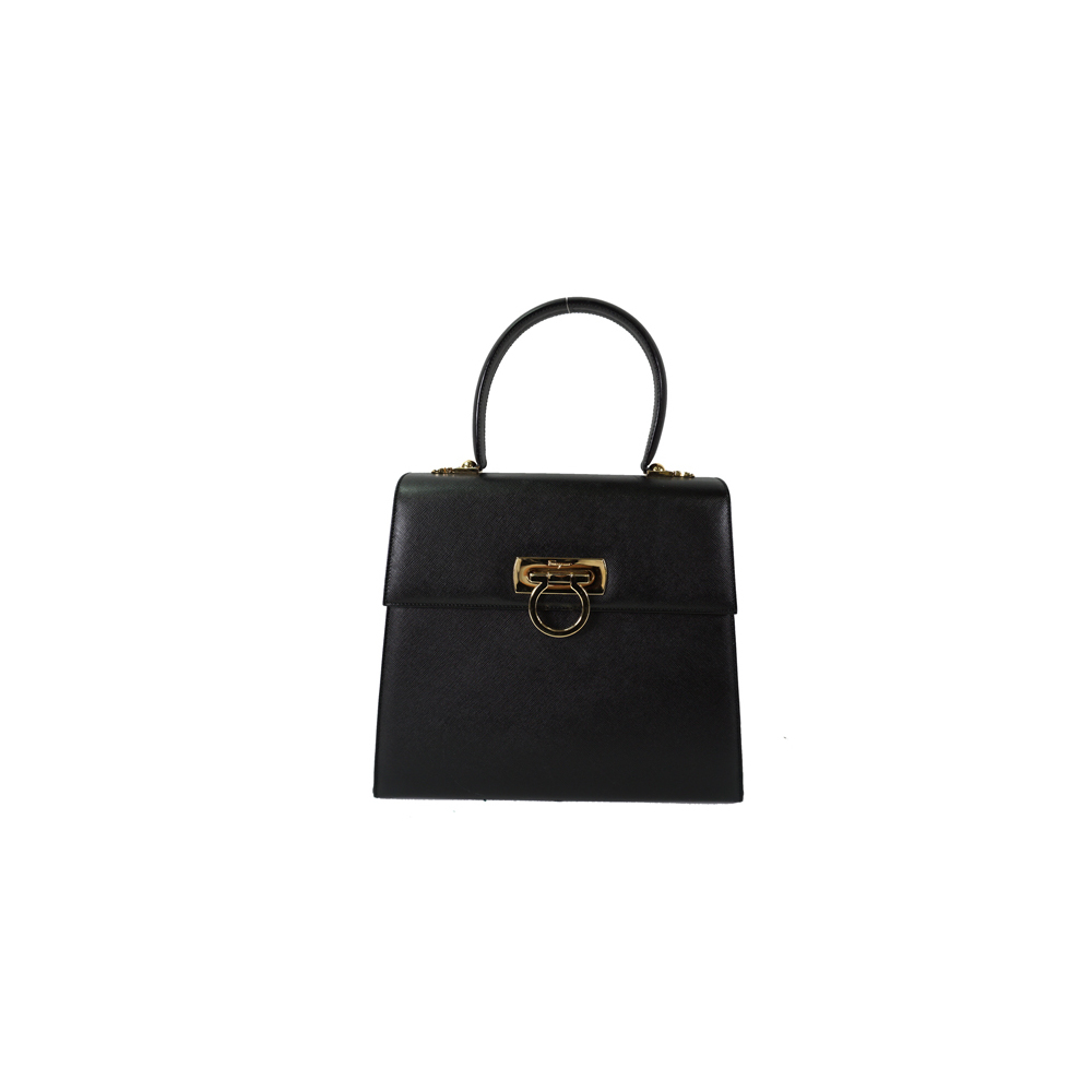 f8d18be6f4a Auth Salvatore Ferragamo Gancini 2Way Bag