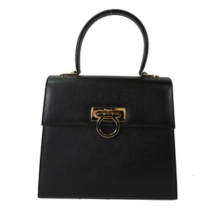 Auth Salvatore Ferragamo Gancini 2Way Bag
