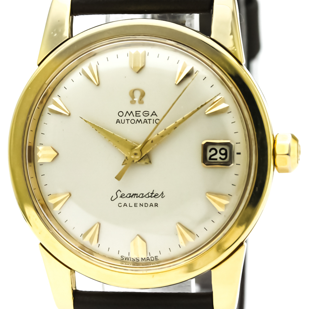 ddc3f8f2f5a Details about Vintage OMEGA Seamaster Calendar Cal 503 18K Gold Automatic  Watch 2849 BF327441