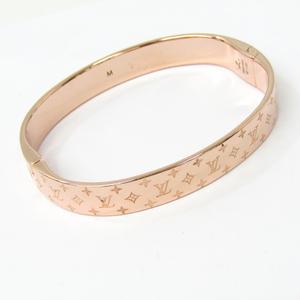 ルイ・ヴィトン(Louis Vuitton) メタル バングル ピンクゴールド(PG) カフ・ナノグラム M00254