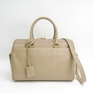 Saint Laurent Classic Duffle 322049 Women's Leather Handbag Beige
