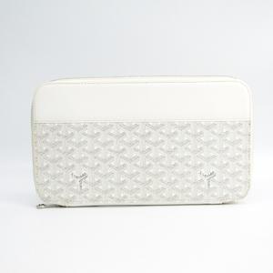 Goyard Opera Organizer Men's Canvas,Leather Long Wallet (bi-fold) White