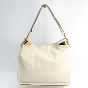 Salvatore Ferragamo 21 D182 Women's Leather Shoulder Bag Ivory