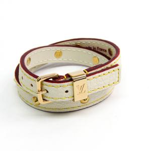 ルイ・ヴィトン(Louis Vuitton) スハリ レザー ブレスレット ブロン ブレスレットドゥブルトゥール M91846