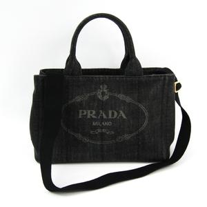 プラダ(Prada) カナパ B2439G レディース デニム トートバッグ Nero(ネロ)