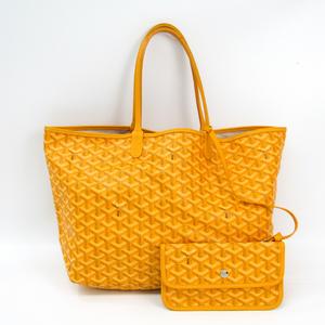 Goyard Saint Louis Saint Louis PM Women's Leather,Canvas Tote Bag Yellow