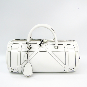 クリスチャン・ディオール(Christian Dior) カナージュ/レディ・ディオール レディース レザー ハンドバッグ ホワイト