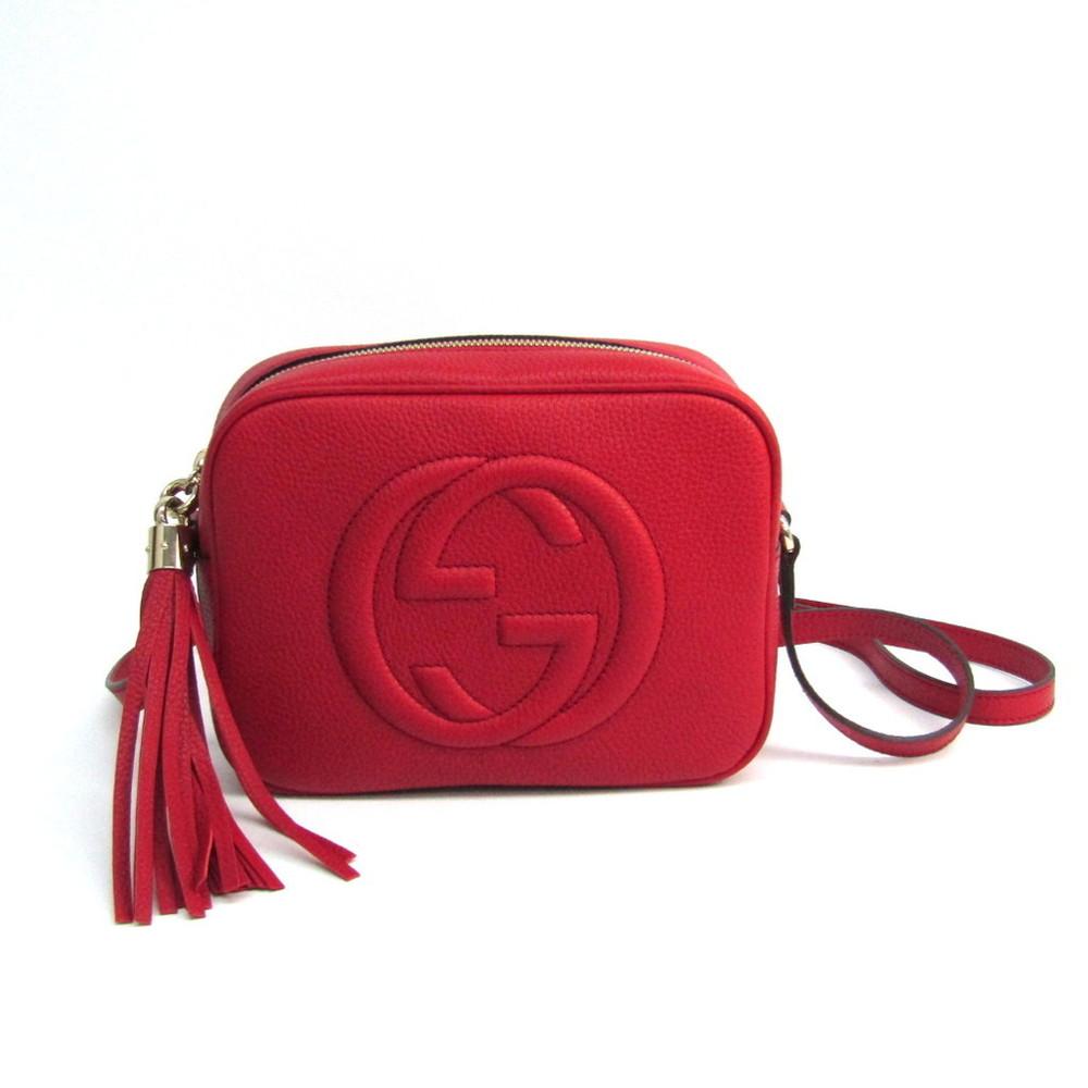 87599a4d6d6c Gucci Soho Disco Bag Interlocking G 308364 Leather Shoulder Bag Red ...