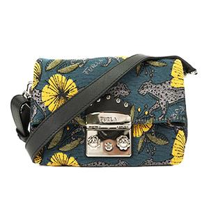 Auth Furla 2 WAY bag handbag shoulder bag floral design