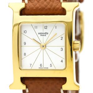Hermes Heure H Quartz Gold Plated Women's Dress Watch RS1.201