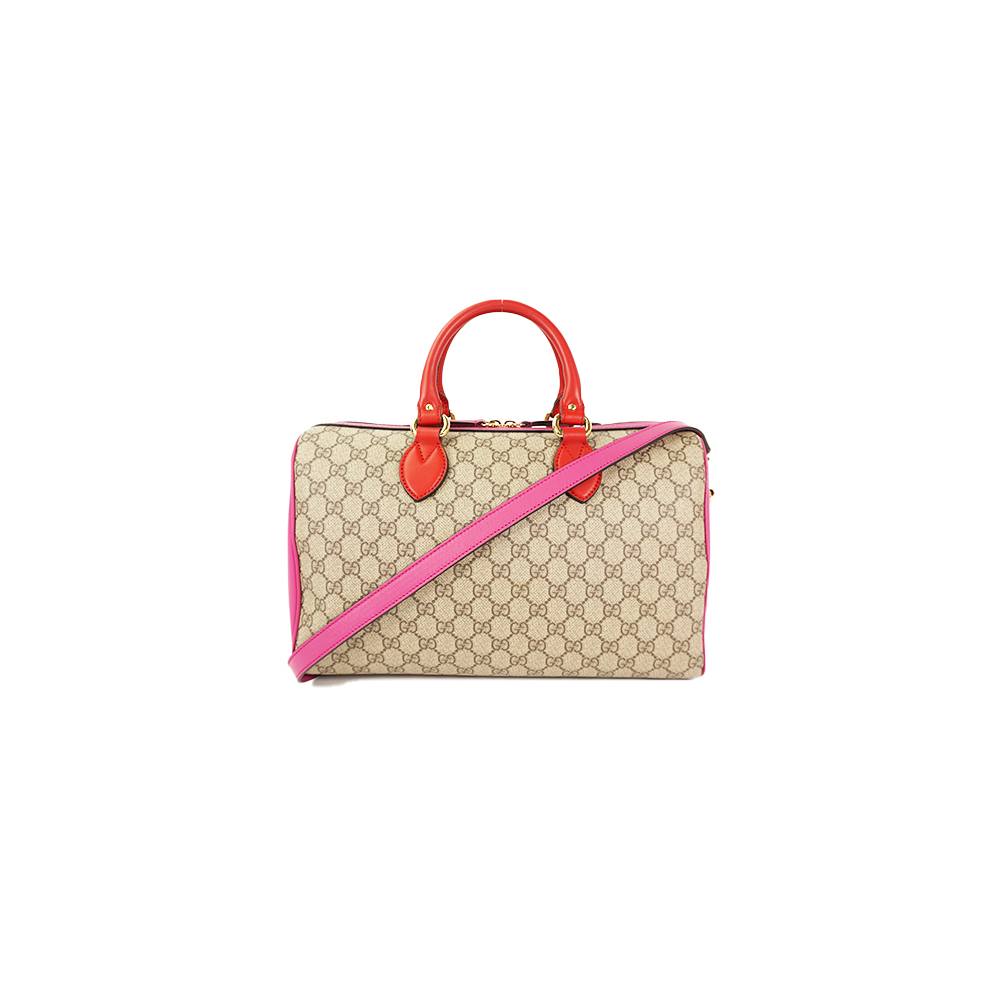 b5c05c64a21 Auth Gucci Boston Bag GG Supreme 409527