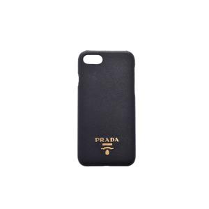 プラダ(Prada)携帯電話ケース ブラック iPhone8 case Saffiano