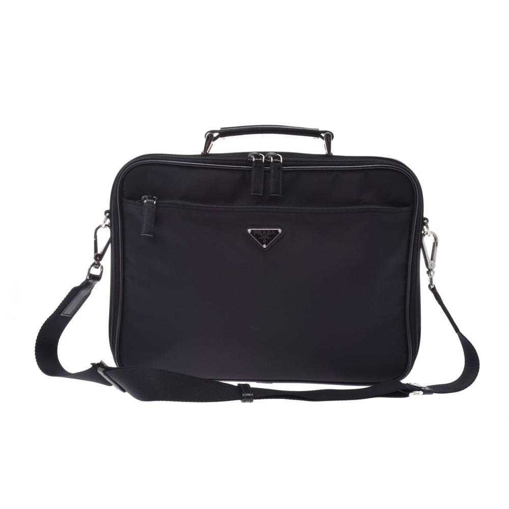 b87b72967e811b Prada 2way Laptop Case Nylon Laptop Bag Black | elady.com