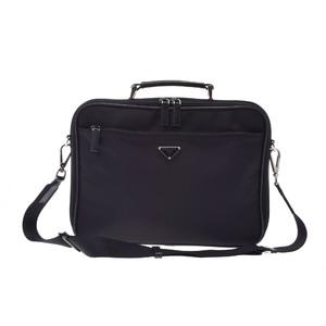 プラダ(Prada) 2way laptop case ナイロン パソコンバッグ ブラック