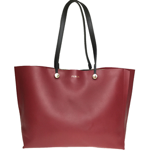 Furla Eden M Women's Leather Tote Bag Red