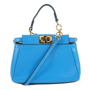 Auth Fendi 2way Bag Shoulder Bag,Handbag Peekaboo Micro Peekaboo 8M0355