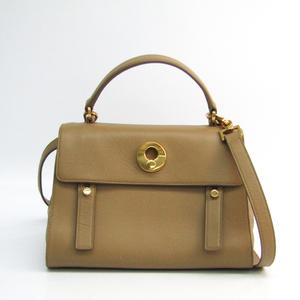 Saint Laurent Muse To 313499 Women's Leather,Suede Handbag Beige