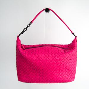 ボッテガ・ヴェネタ(Bottega Veneta) イントレチャート 239988 レザー ショルダーバッグ ピンク