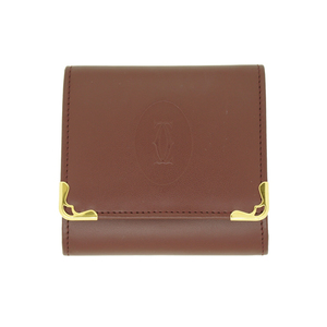 18ffc7f92e6f Auth Cartier coin purse · coin case mast Bordeaux