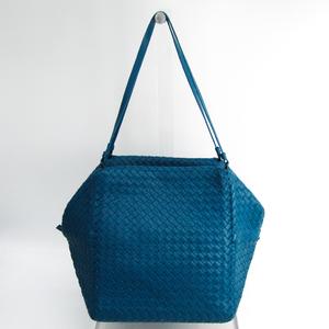 ボッテガ・ヴェネタ(Bottega Veneta) イントレチャート 255694 レディース レザー ショルダーバッグ ブルー