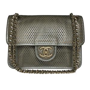 シャネル(Chanel)  フレンチリビエラ A67652 パンチングレザー Wチェーン ショルダーバッグ