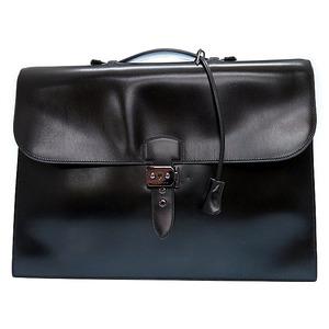 Hermes Sac A Depeche Men's  Briefcase Black