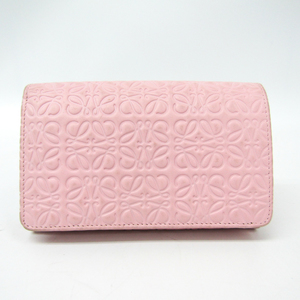 Loewe Repeat Women's Leather Middle Wallet (bi-fold) Light Pink