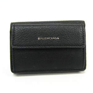 バレンシアガ(Balenciaga) エッセンシャル ミニウォレット 410133 レディース レザー 財布(三つ折り) ブラック