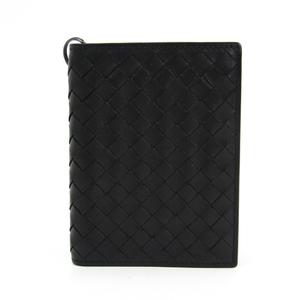 Bottega Veneta Intrecciato 130683 Men's Leather Bill Wallet (bi-fold) Black