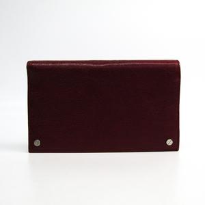 バレンシアガ(Balenciaga) 409354 メンズ レザー 長財布(二つ折り) ボルドー