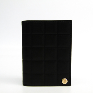 シャネル(Chanel) レザー カードケース ブラック チョコバー