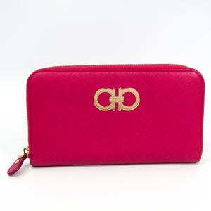 サルヴァトーレ・フェラガモ(Salvatore Ferragamo) ガンチーニ 22 B300 レディース レザー 長財布(二つ折り) ピンク