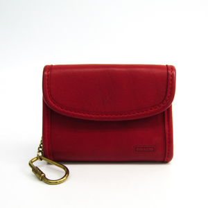 Coach Women's Leather Coin Purse/coin Case Red