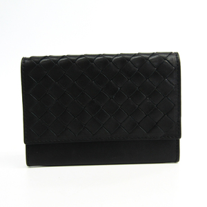 Bottega Veneta Intrecciato Leather Card Case Black 113283