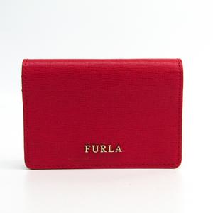 Furla Leather Card Case Red Babylon 850700
