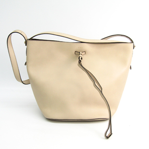 Furla Vittoria Women's Leather Shoulder Bag Beige