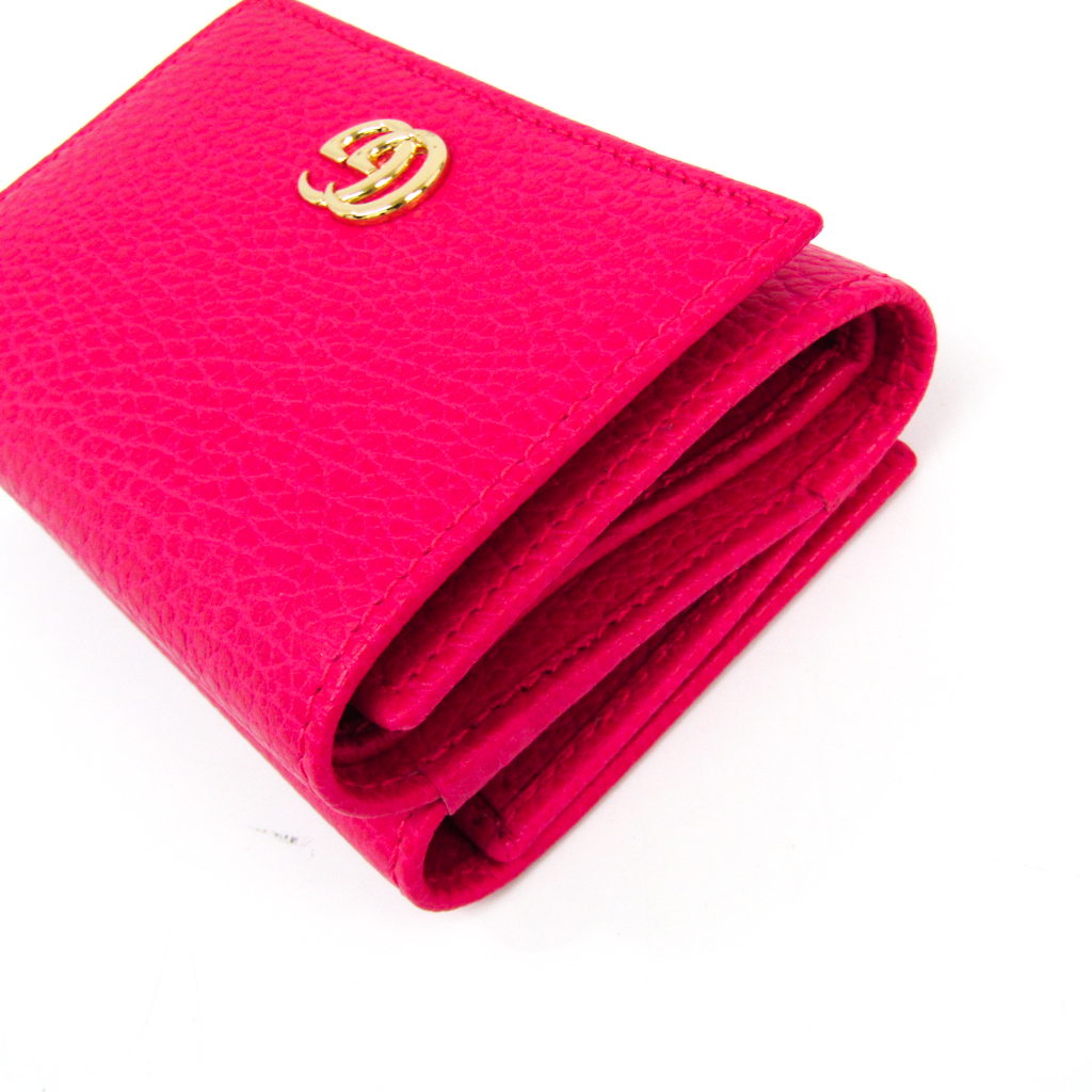 newest 8b130 e1ba9 Gucci GG Marmont 474746 Women's Leather Wallet (tri-fold ...