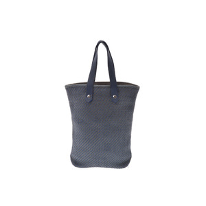 Hermes CABAS CHENNAI Leather,Polyester Bag Blue