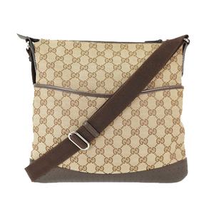 グッチ(Gucci) GGキャンバス ショルダーバッグ/shoulder Bag/145857 GGキャンバス ショルダーバッグ ブラウン