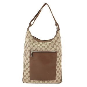Auth Gucci Shoulder Bag GG Canvas 0190538 Brown Beige Women's