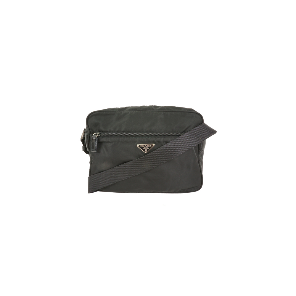 Auth Prada shoulder Bag Nylon Black Women's