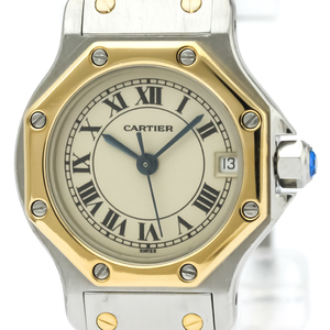 Cartier Santos Octagon Quartz Women's Dress Watch 187903